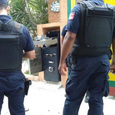 Roban cajero automático en zona turística de Playa del Carmen