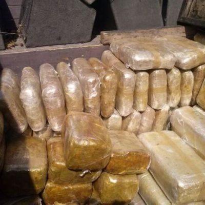 Consignan sólo a uno de los detenidos con cargamento de marihuana en el sur de QR