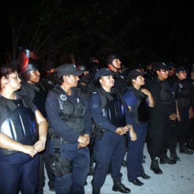 DESALOJAN 'LA SELVA': En irregular operativo, policías echan a más de 107 familias en fraccionamiento en conflicto de Cancún