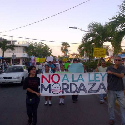 Modifica Congreso 'Ley Antimarchas' de QR
