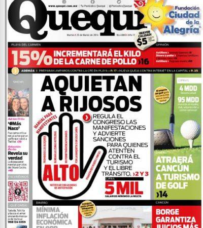 ¿Y TÚ, CUÁL PERIÓDICO LEES?: La prensa en QR ante el reto de informar sobre la 'Ley Antimarchas'