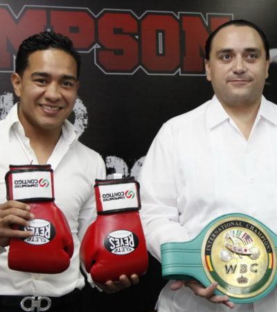 Recibe Borge en Chetumal al boxeador Yeyo' Thompson