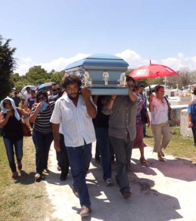 Dan último adiós al regidor May Molina, asesinado en Chetumal