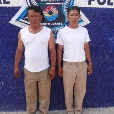 Detienen a 2 agentes de tránsito por extorsión a automovilista en Cancún