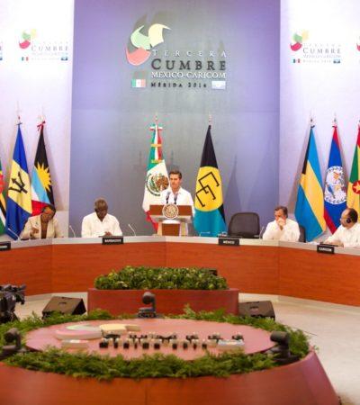 Promete EPN más dinero para apoyar en caso de desastres naturales en el Caribe