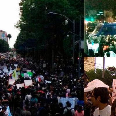 RECHAZAN CENSURA DE PEÑA: Marchan miles contra intento por regular internet en México… y chocan con policías de Mancera