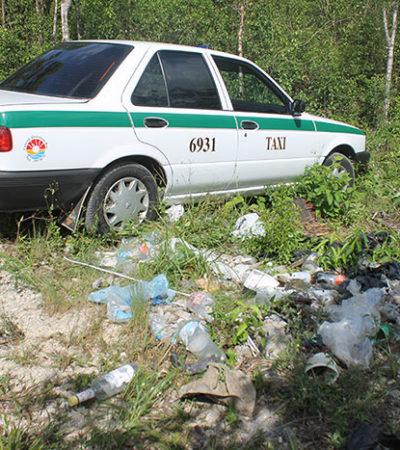 ERAN 'TIRADORES' DE 'LOS PELONES': Dan positivo al consumo de cocaína los dos encajuelados hallados en un taxi en Cancún; aún no identifican a uno