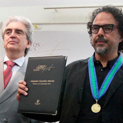 Conceden al cineasta González Iñárritu Medalla 'Carlos Fuentes' a la Creatividad