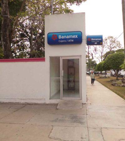 ROBAN OTRO CAJERO EN CHETUMAL: Arrancado desde su base, se llevan cajero automático de Banamex en la colonia Italia; la policía no vio nada