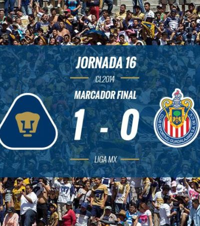 AMARRA PUMAS LIGUILLA: Vence la UNAM 1-0 a Guadalajara y ya está del otro lado