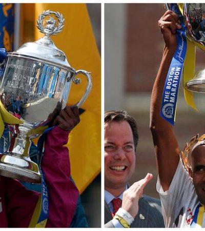 Ganan keniana y estadounidense el maratón de Boston