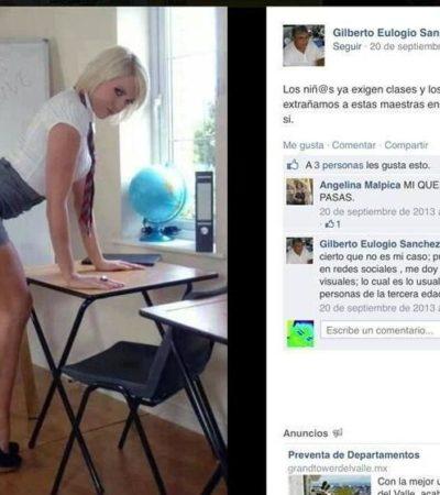 Destituyen a director de Educación en Oaxaca por subir fotos eróticas a redes sociales