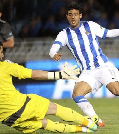 Golazo de Carlos Vela en el último minuto, le da el triunfo a Real Sociedad