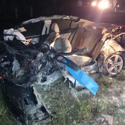 OTRA TRAGEDIA EN LA CARRETERA: Deja 2 muertos y 4 heridos choque de automóvil contra autobús Mayab en la vía FCP-Tulum