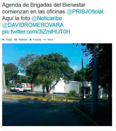 EXHIBEN A 'BRIGADAS ELECTORERAS': Denuncia líder del PAN a unidades de programa asistencialista de Borge en sede del PRI en Cancún