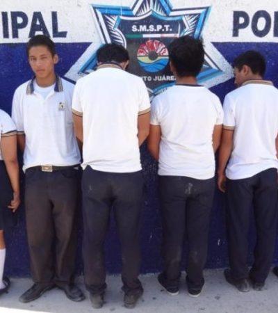 Detienen a seis estudiantes del Cecyte con marihuana en Cancún