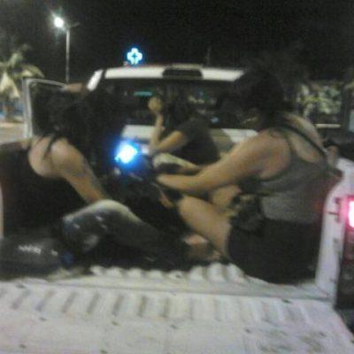 Detienen a travestis y los acusan de presuntos asaltos en la zona de Las Palapas