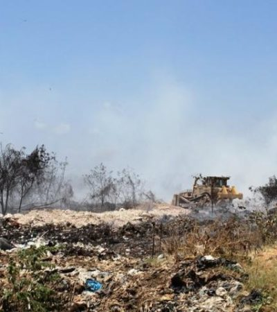 Controlan incendio en basurero de Chetumal