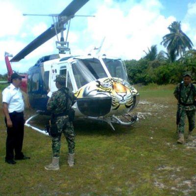 ATERRIZAJE DE EMERGENCIA EN SIAN KA'AN: Por turbulencia, helicóptero con turistas alemanes desciende en Punta Allen
