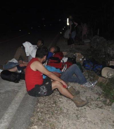 VOLCADURA EN FCP: Tres lesionados en accidente en la carretera Tepich-Chumpón