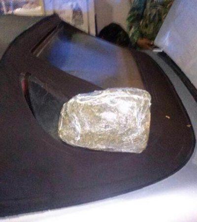 Detienen a 2 en Chetumal con un kilo de marihuana