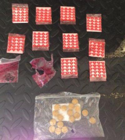 Cae narcomenudista en Playa Mamitas con cocaína y droga sintética