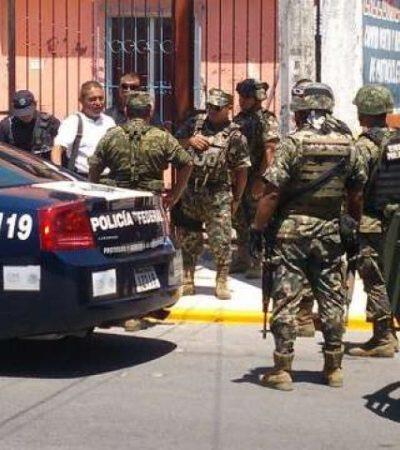 Sorprende operativo militar a judicial activo en plena juerga en casa de citas clandestina de Cancún