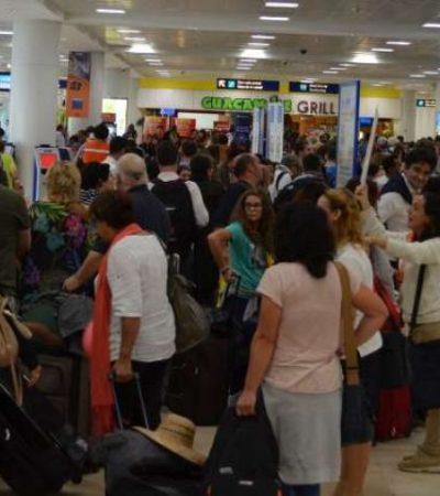 TERMINAN VACACIONES: Intensa actividad en el aeropuerto de Cancún por éxodo de turistas