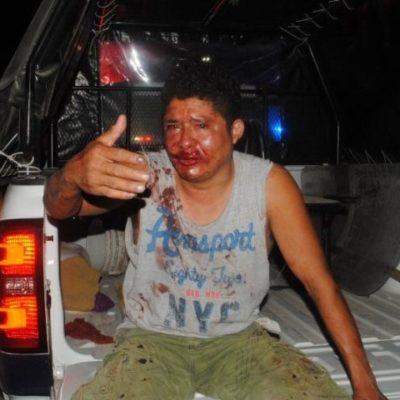 Robó una patrulla de taxistas en Chetumal y casi lo linchan