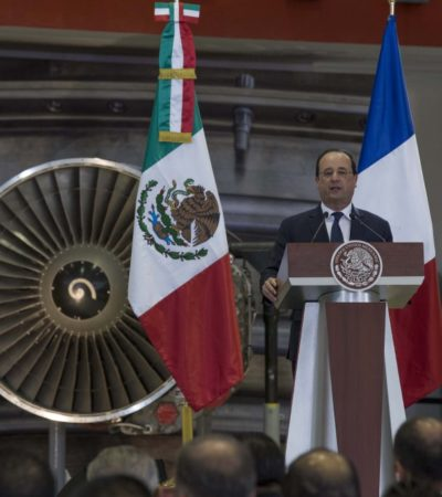 """""""NO HEMOS ALCANZADO NUESTROS OBJETIVOS"""": Llama Hollande a acelerar lazos comerciales entre México y Francia"""