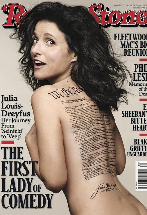 LA PRIMERA DAMA DE LA COMEDIA SE DESNUDA:  A los 53 años, Julia Louis-Dreyfus posa para la revista Rolling Stone