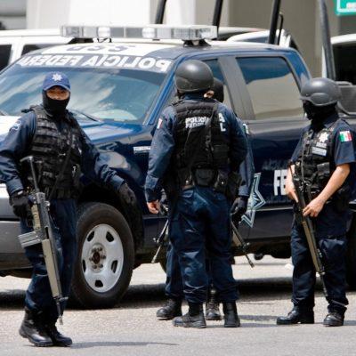 Llegan 300 federales a Cancún para reforzar vigilancia en Semana Santa