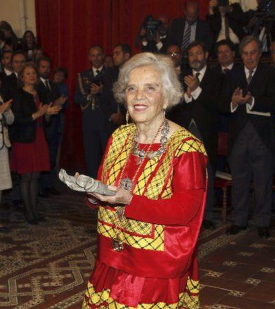 UNA 'SANCHO PANZA' PARA LOS SIN VOZ: Recibe Elena Poniatowska el Premio Cervantes de Literatura