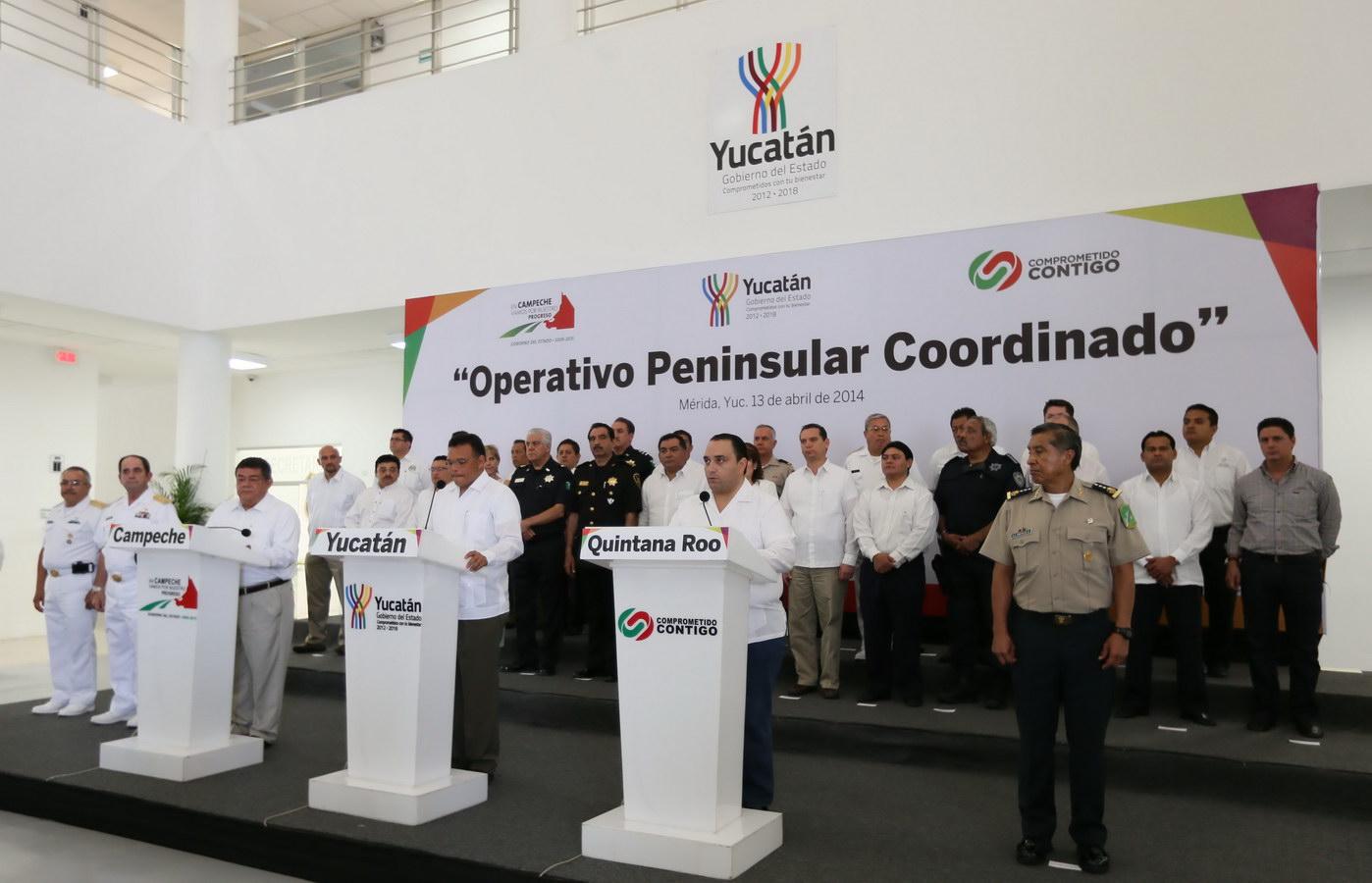 'OPERATIVO PENINSULAR COORDINADO': Se reúnen 3 Gobernadores y, después de 'un taco', garantizan seguridad durante vacaciones