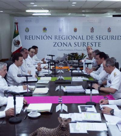 Realiza Segob reunión de seguridad con Gobernadores del Sureste