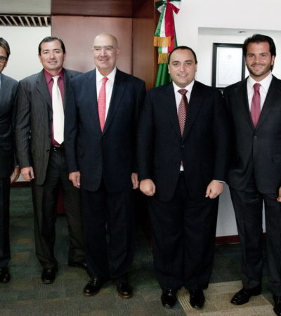 ¿MÁS DINERO CONTRA LA EROSIÓN?: Presenta Gobernador a Semarnat nuevos proyectos de recuperación de playas en QR