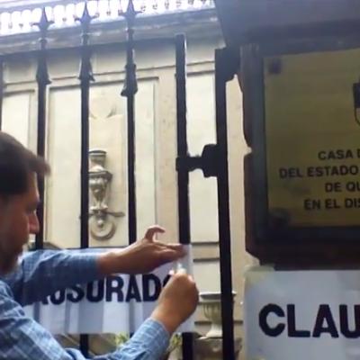 Clausura Fernández Noroña Casa de Gobierno de QR en el DF por aprobar 'Ley Antimarchas'