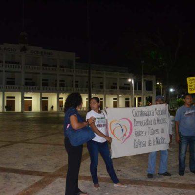 CARAVANA DE LA DISIDENCIA EN CHETUMAL: Reta la Coordinadora la Ley Antibloqueos de Quintana Roo y protestan contra reforma educativa