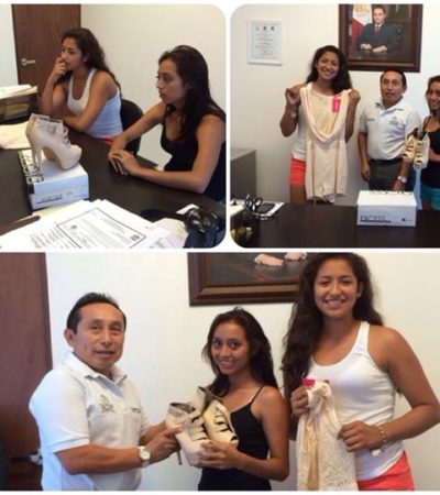 """""""YO NO LE VEO NADA MALO"""": Justifica funcionario de Tulum regalar vestido y zapatillas a 2 jóvenes como 'apoyo social'"""