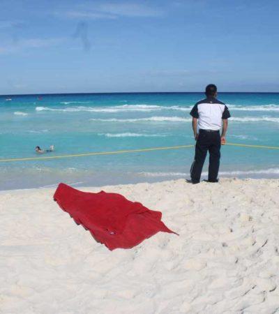 Se ahoga turista nacional en la playa del hotel Oasis en Cancún