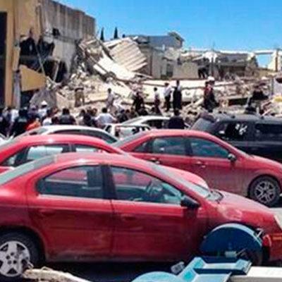 EXPLOSIÓN EN PLAZA DE REYNOSA: Se colapsa centro comercial por el estallido cerca de la delegación de PGR