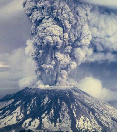 Publican raras fotos aéreas a 34 años de la devastadora erupción del Monte Santa Elena