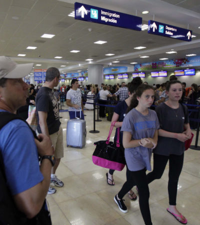 Aumenta en abril 10.7% tráfico de pasajeros en el aeropuerto de Cancún