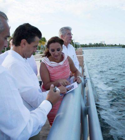Inaugura EPN el Malecón Tajamar y otros proyectos en Cancún