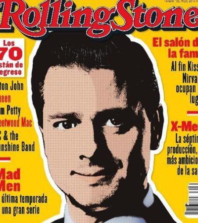 ¿TONTO$?… NI TANTO: Dan portada a Peña Nieto en la revista Rolling Stone… en español