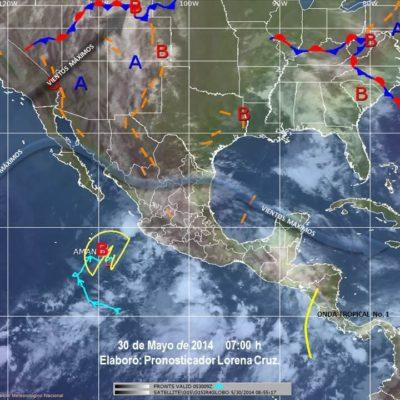 Surge onda tropical número 1 y anticipan fuertes lluvias en todo el Sureste