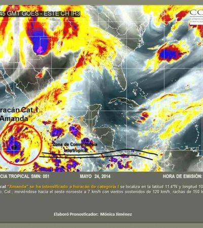 PRIMER HURACÁN DE LA TEMPORADA: 'Amanda' se intensifica en el Pacífico y pronostican fuertes lluvias