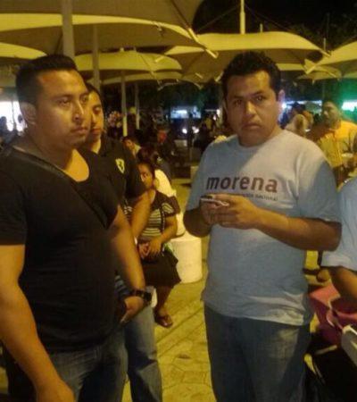 Exhiben acoso de funcionarios municipales contra activistas de Morena en Cancún
