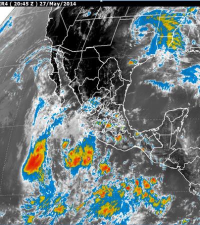 MONITOREO EN EL PACÍFICO: Se degrada 'Amanda' a tormenta tropical