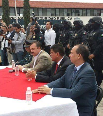 Con policías y tanquetas, Gobernador de Nayarit recibe a diputados del PAN y PRD; los tilda de narcos